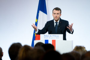 French President Emanuel Macron urges other global leaders to work hand in hand to combat the COVID-19 pandemic.